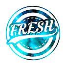 Fresh Logo with Galaxy backround by xRami
