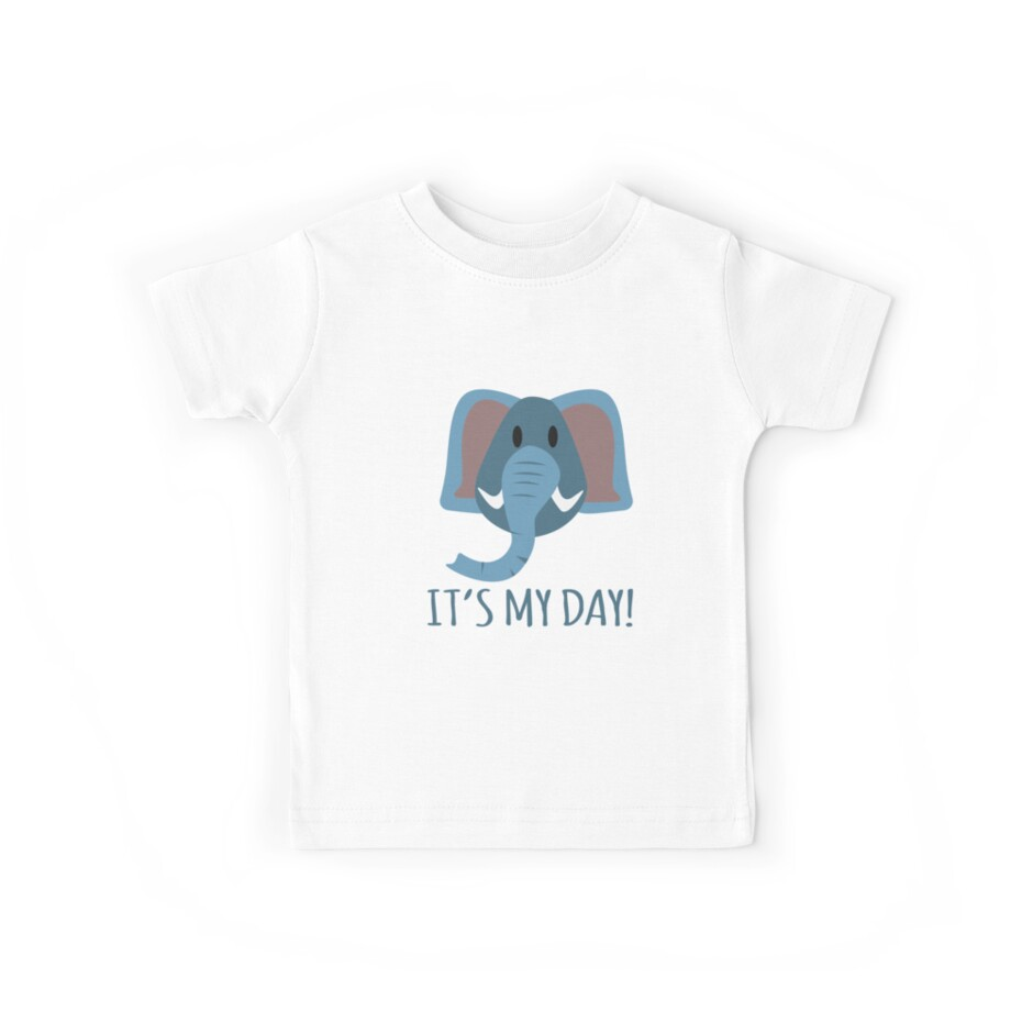 elephant Kids Birthday gift idea by MyShirt24