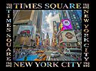Times Square Traffic (poster edition on black) by Ray Warren