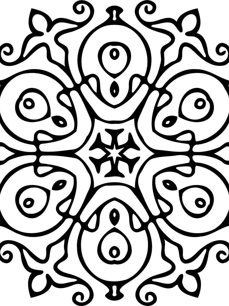 Black And White Mandala by Passie