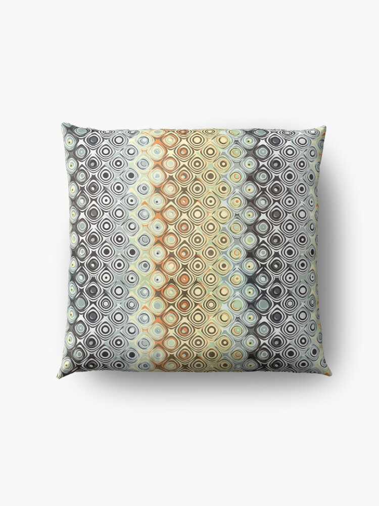 Alternate view of Pattern of Abstract Circles Floor Pillow