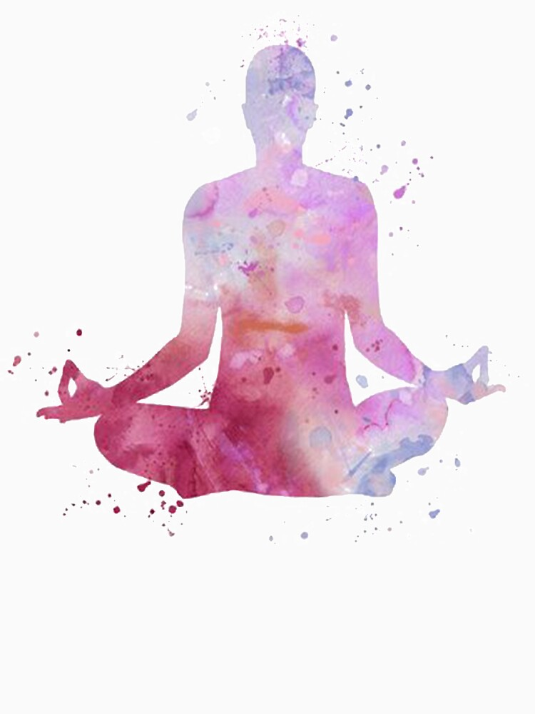 yoga watercolor om mindfulness massage by untagged-shop