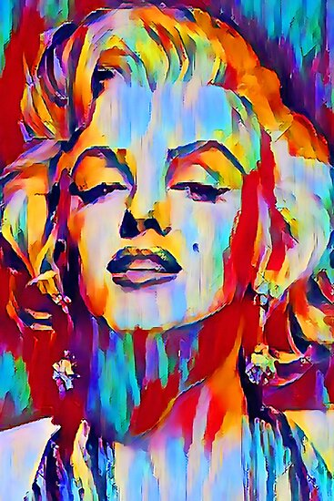 Abstract art of Marylin Monroe by Nora Gad