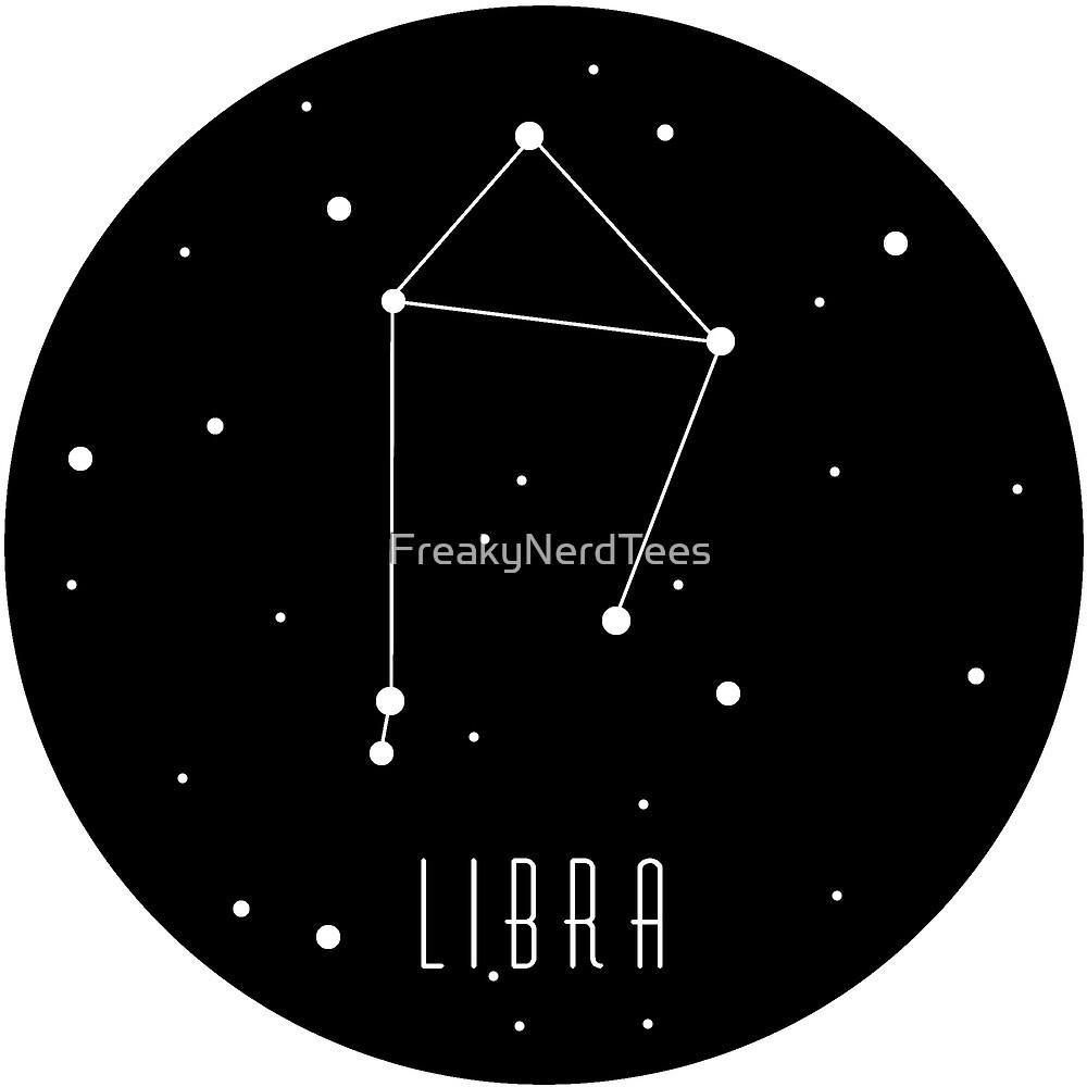 Libra Zodiac Contellation by FreakyNerdTees
