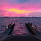 Tantabiddi Boat Ramp Exmouth, Ningaloo Reef on Sunset by Vic Ratnieks