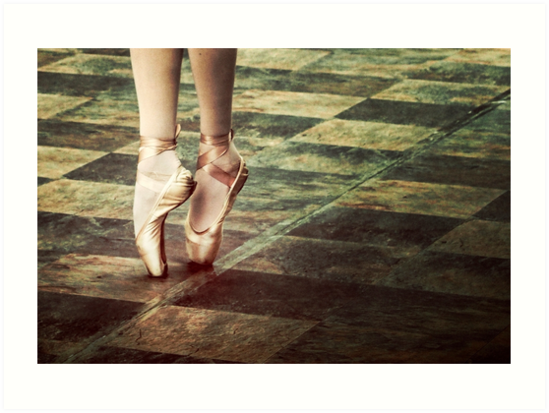Dancing in the street. Feet of a ballet dancer. by Giuseppe 23 Esposito