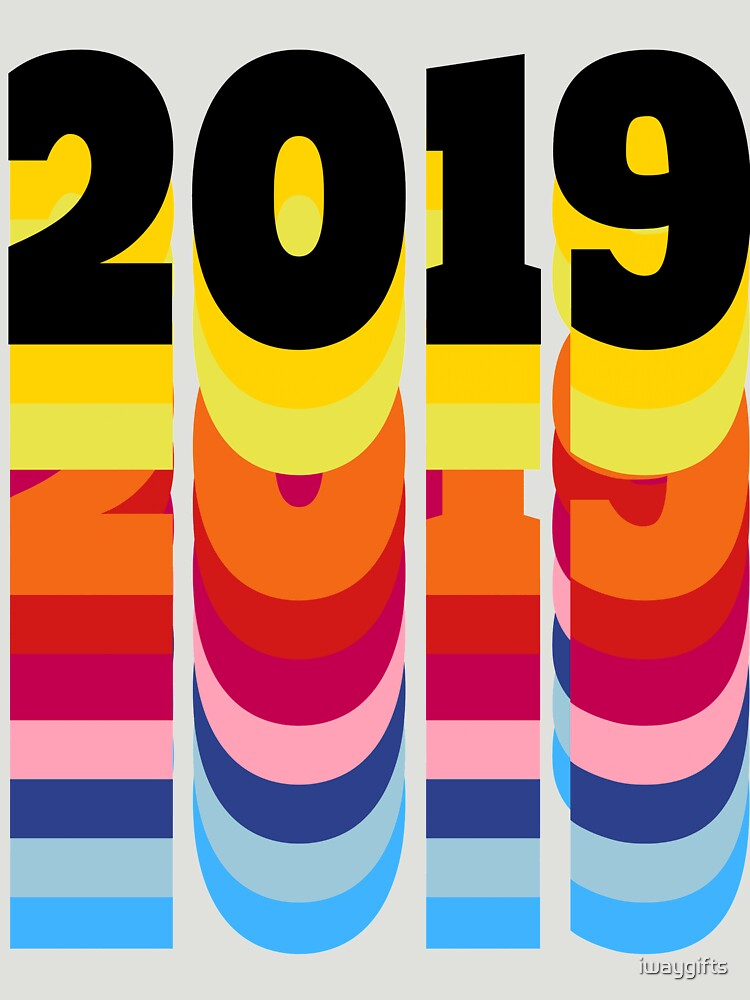 New Year 2019 Colorful by iwaygifts