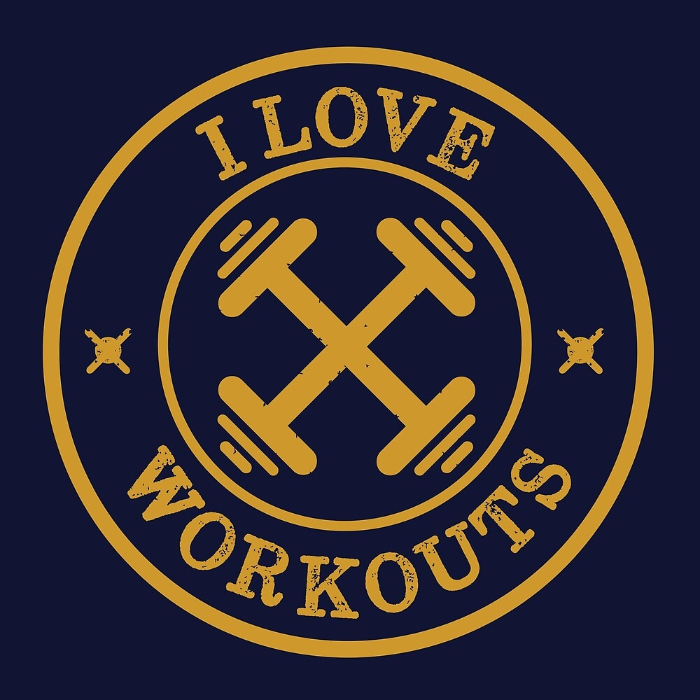 I Love Workouts Retro  by happinessinatee