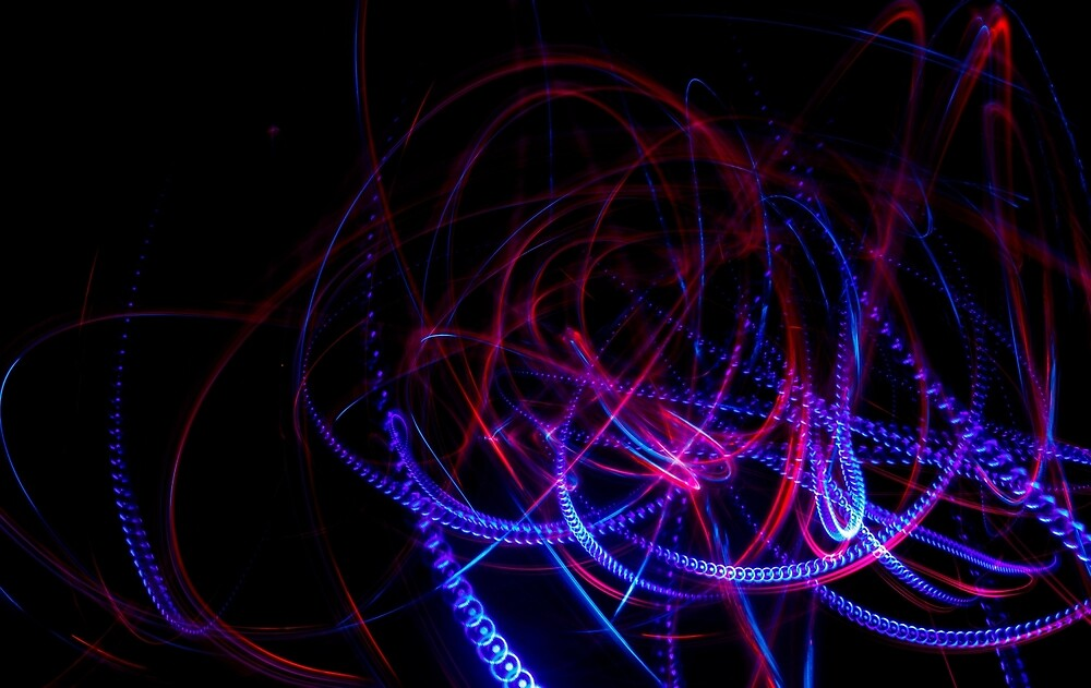 Abstract blue and red light effect by Astronomiseme24