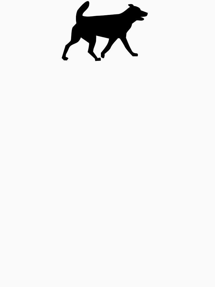 Dog Black Silhouette by MartinV96