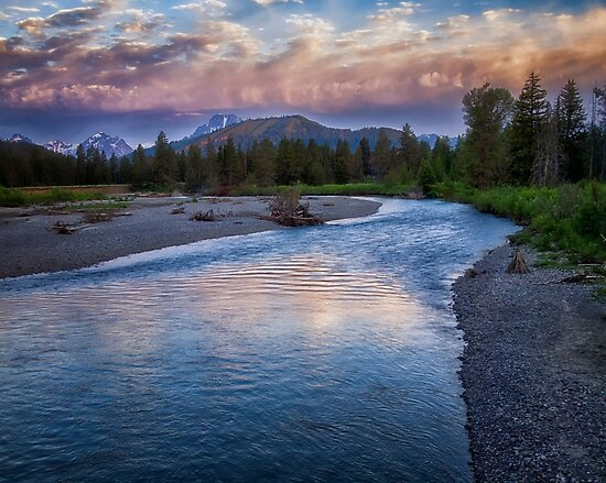 Morning on the Snake River - Grand Teton national Park by Kathy Weaver
