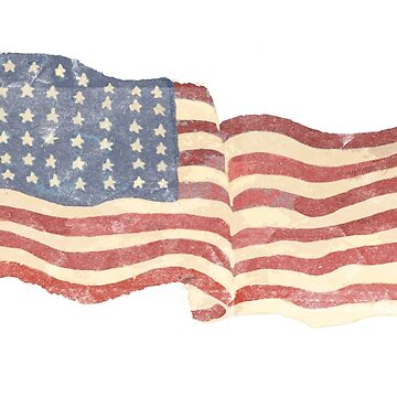 American flag patriotic faded distressed vintage by mikemaxdesigns