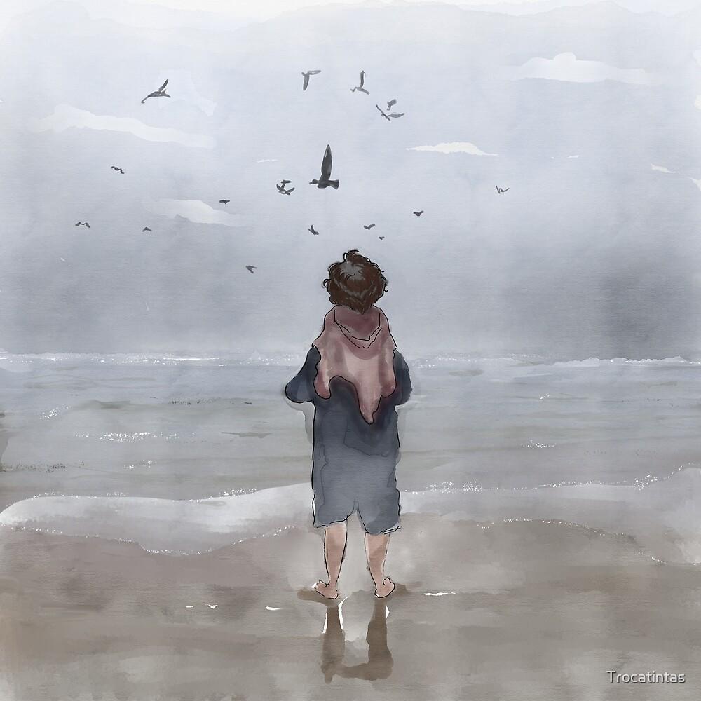 Peaceful Grey by Trocatintas