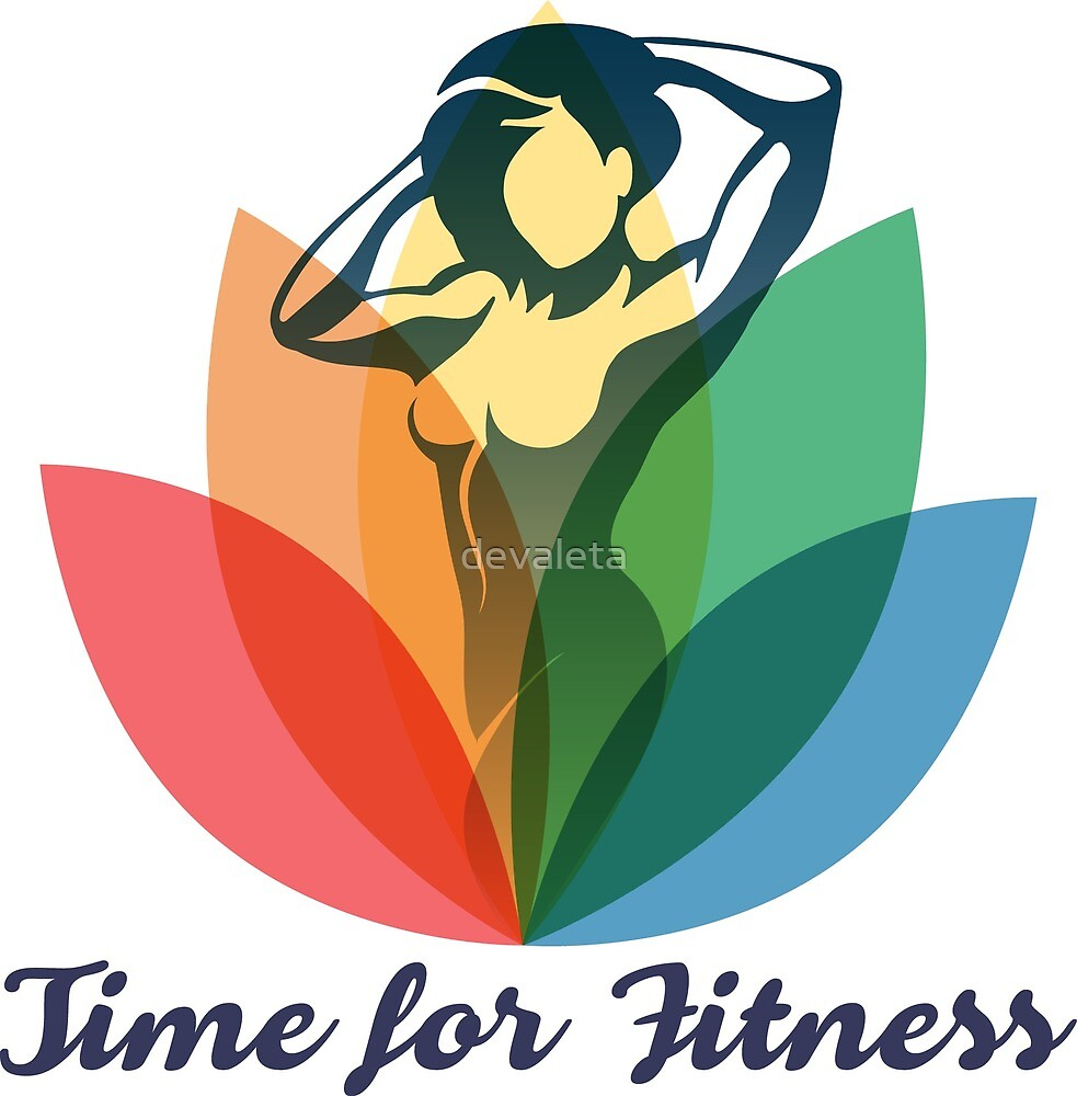 Fitness Poster with Slogan Time to Fitness by devaleta