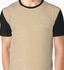 Seamless pattern texture. Geometric ornament with color full circles on brown Graphic T-Shirt
