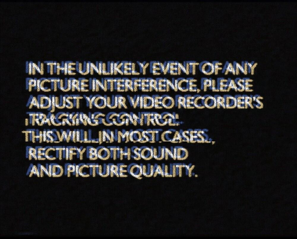 VCR Tracking Glitch by lgpmachine
