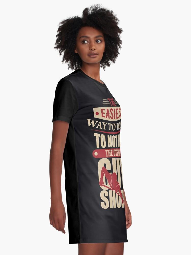 Alternate view of Billard Wisdom Winning Graphic T-Shirt Dress