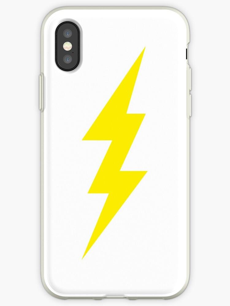 official photos 98071 88b44 'Lightning Bolt T-Shirt' iPhone Case by mikemaxdesigns