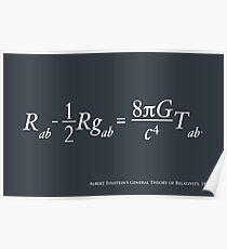 Einstein Relativitätstheorie Poster