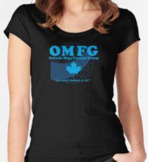 OMFG: Ontario Mega Finance Group Women's Fitted Scoop T-Shirt