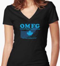 OMFG: Ontario Mega Finance Group Women's Fitted V-Neck T-Shirt