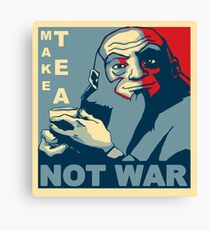 "Iroh ""Make Tea Not War"" Canvas Print"