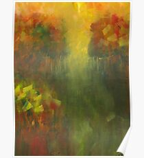Dreams of Meadows: Abstract Landsacpe Poster