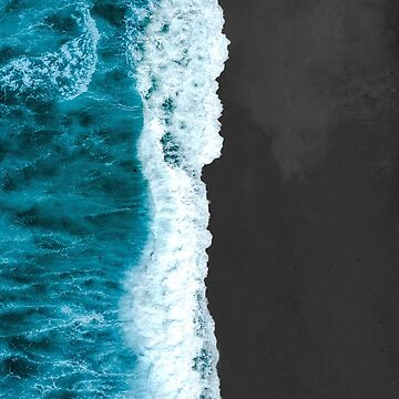 Beach waves Ariel view  by VinyLab