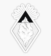 iceberg black and white Sticker