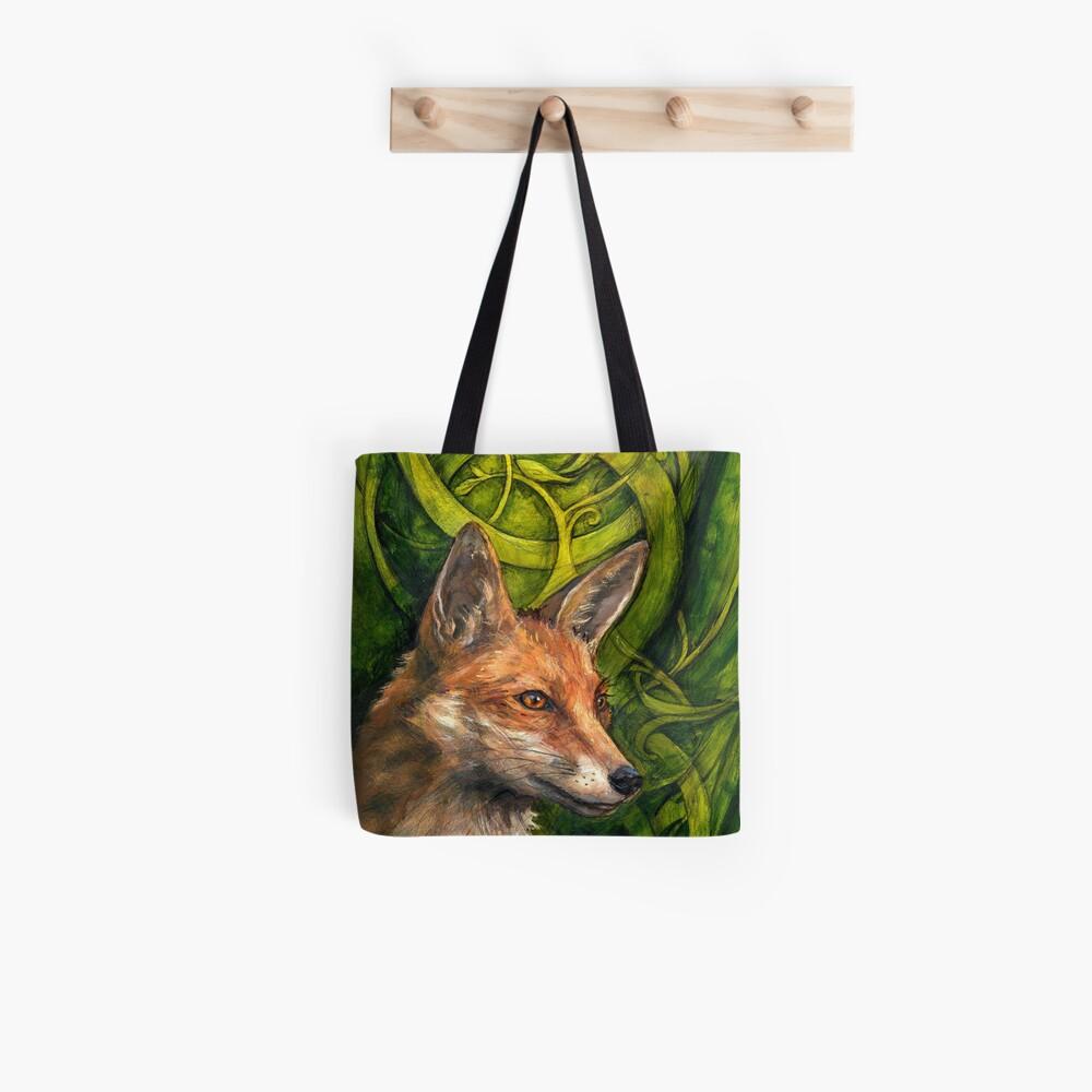 Negrita intrépida Fox Bolsa de tela
