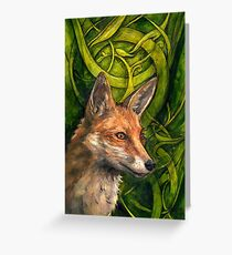 Bold Undaunted Fox Greeting Card