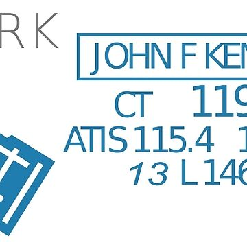 Aviation Sectional Chart New York JFK Airport by mikemaxdesigns