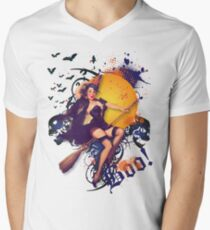 The Kitsch Bitsch : Halloween Kitsch Witsch Pin-Up Men's V-Neck T-Shirt