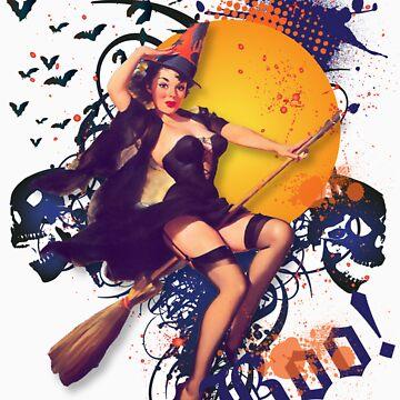 The Kitsch Bitsch : Halloween Kitsch Witsch Pin-Up by TheKitschBitsch