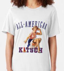 The Kitsch Bitsch : All-American Kitsch Pin-Up Slim Fit T-Shirt