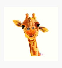 GIRAFFE ZOO ANIMAL PRINTS 'TOMMY' GIRAFFE GIFTS VON SHIRLEY MACARTHUR Kunstdruck