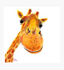 GIRAFFE ZOO ANIMAL PRINTS 'BeNNY' GIRAFFE GIFTS VON SHIRLEY MACARTHUR Fotodruck
