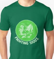 Fighting Sioux in Green Shades Unisex T-Shirt