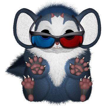 Fu Mouse 3D Glasses by ratherkool