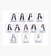 Group loona polaroid Photographic Print