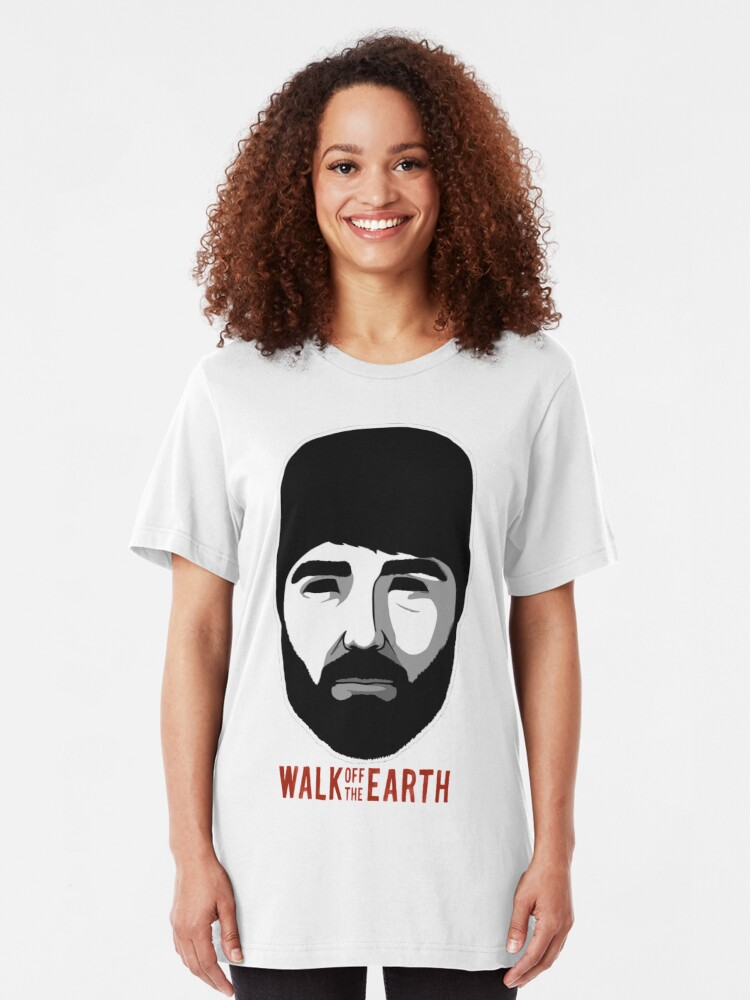 Walk Off The Earth - Hipster Beard Guy   Slim Fit T-Shirt