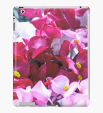 Red, pink and white flowers in a white cup iPad Case/Skin