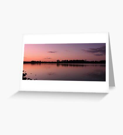 Pink sky at night.............. Greeting Card