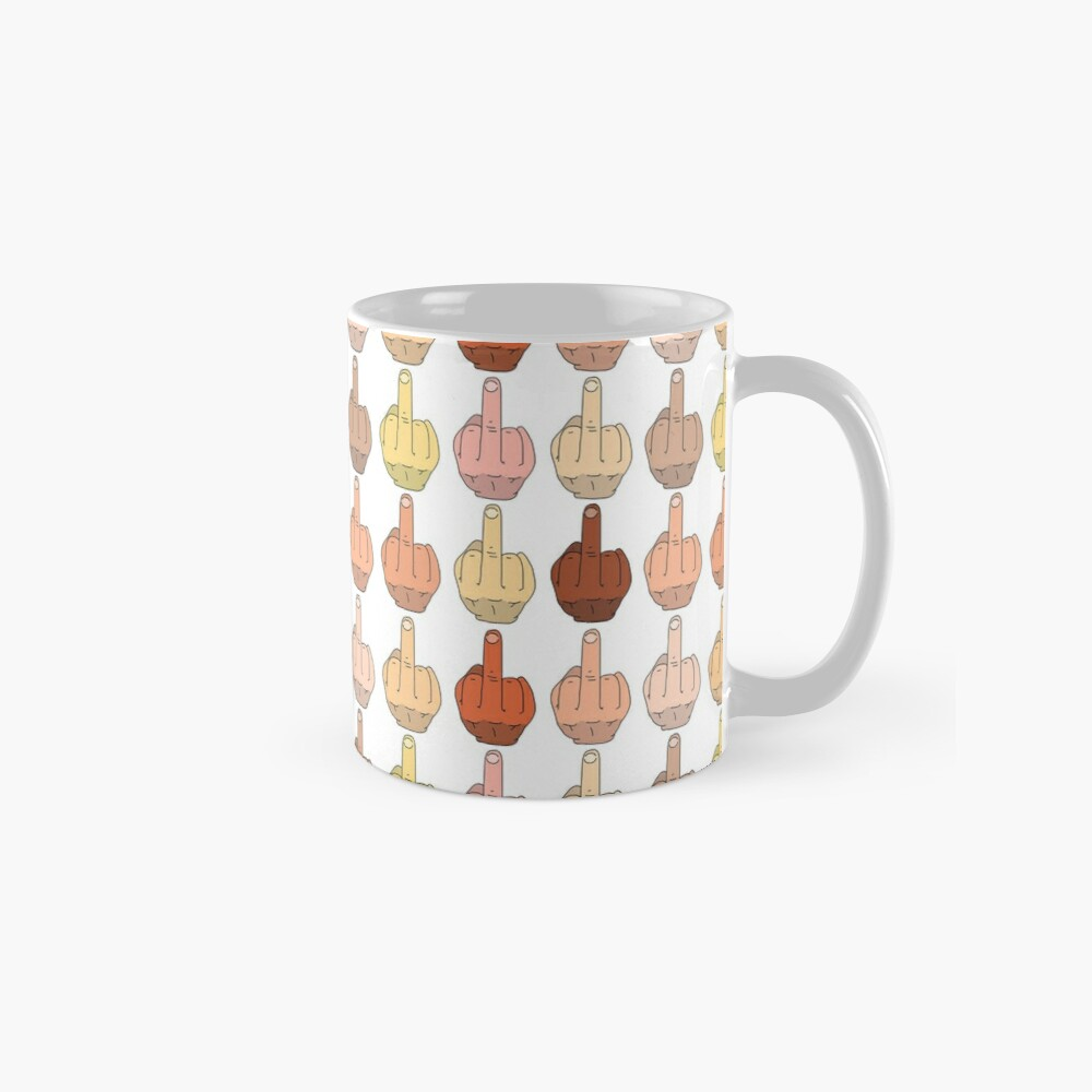 Multicultural Middle Fingers Classic Mug