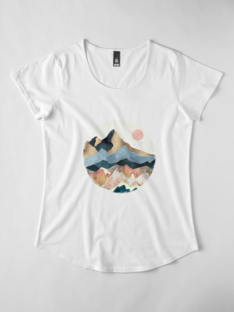 Alternate view of Golden Peaks Premium Scoop T-Shirt