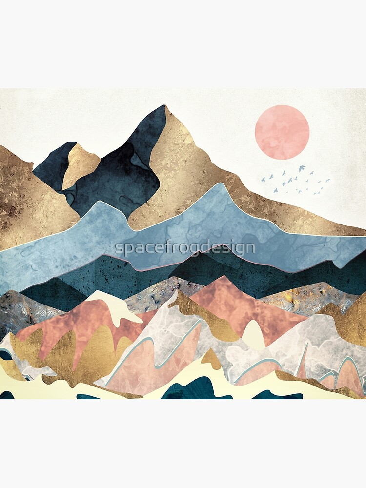 Golden Peaks by spacefrogdesign