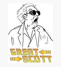 BTTF Great Scott Photographic Print