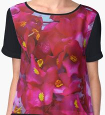 Red, pink and white flowers in a white cup Chiffon Top