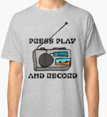 Press Play and Record Classic T-Shirt
