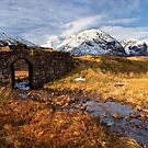 Glencoe.  Old Road Bridge. Winter. Scottish Highlands. by Barbara  Jones ~ PhotosEcosse